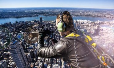 Shooting 4K of NYC on iPhone hanging out of a HELICOPTER!